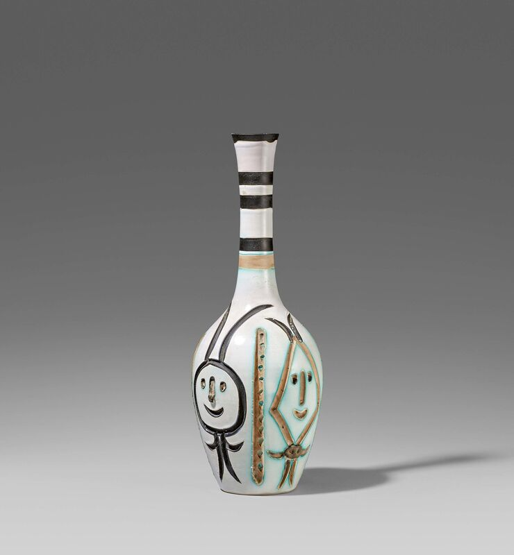 Pablo Picasso, 'Engraved bottle', 1954, Design/Decorative Art, White earthenware clay, polychromed and partially glazed., Van Ham