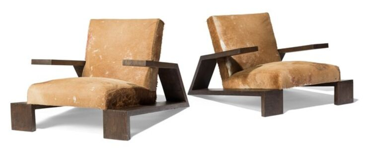 Comte, 'Pair of Elephant Lounge Chairs', 1940s