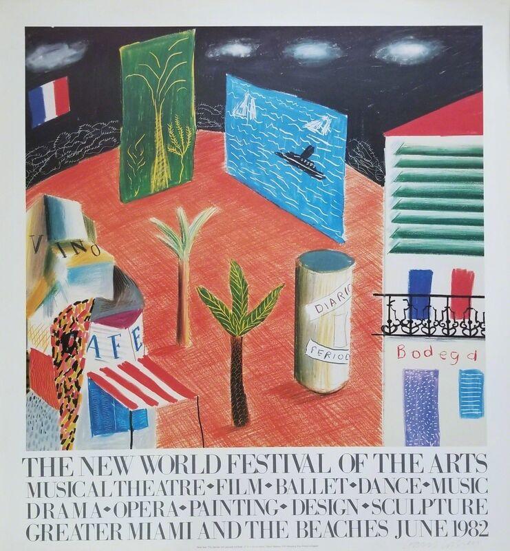 David Hockney, 'The New World Festival of the Arts', 1982, Print, Offset-Lithograph, Poster, Graves International Art
