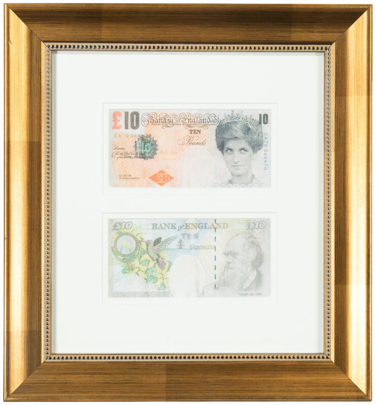 Banksy, 'Di-faced Tenner', 2004, Print, Offset lithograph on paper under glass, John Moran Auctioneers