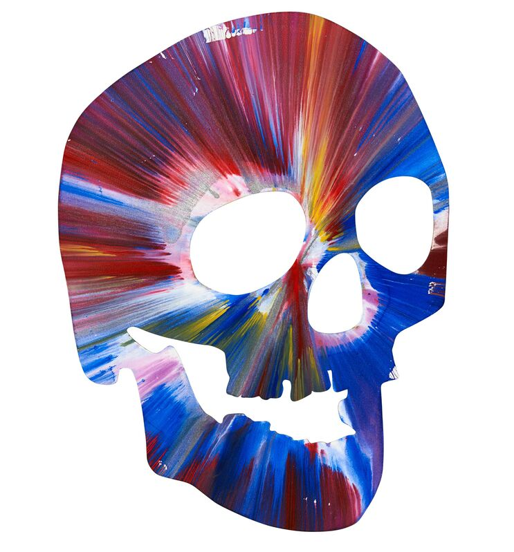 Damien Hirst, 'Skull Spin Painting (Created at Damien Hirst Spin Workshop)', 2009, Painting, Acrylic on paper, Rago/Wright