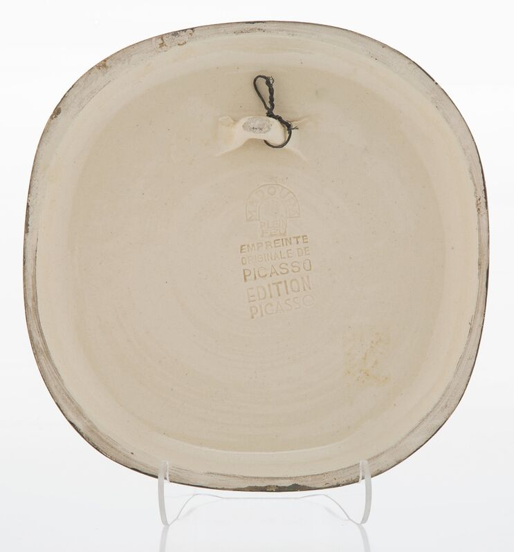 Pablo Picasso, 'Trois personnages sur un tremplin', 1956, Design/Decorative Art, White earthenware ceramic wall plaque with black engobe, Heritage Auctions
