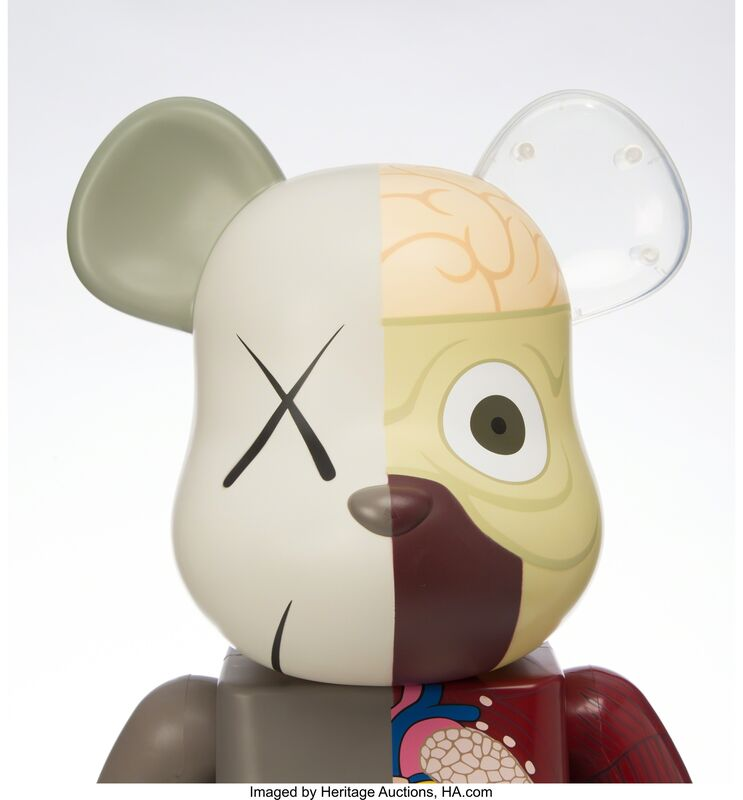 KAWS, 'Dissected Brown BE@RBRICK 1000%', 2008, Other, Painted cast vinyl, Heritage Auctions