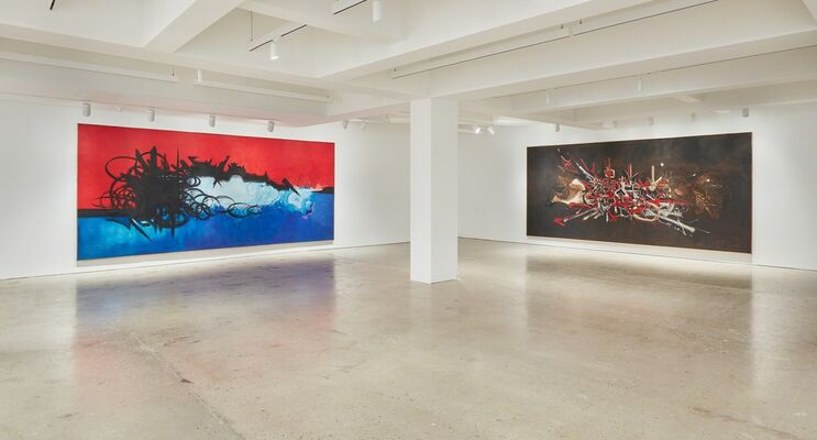 Georges Mathieu: Monumental Paintings, installation view