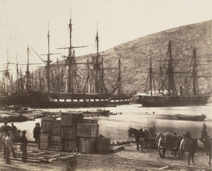 Roger Fenton, 'Head of Harbour, Balaklava', 1856