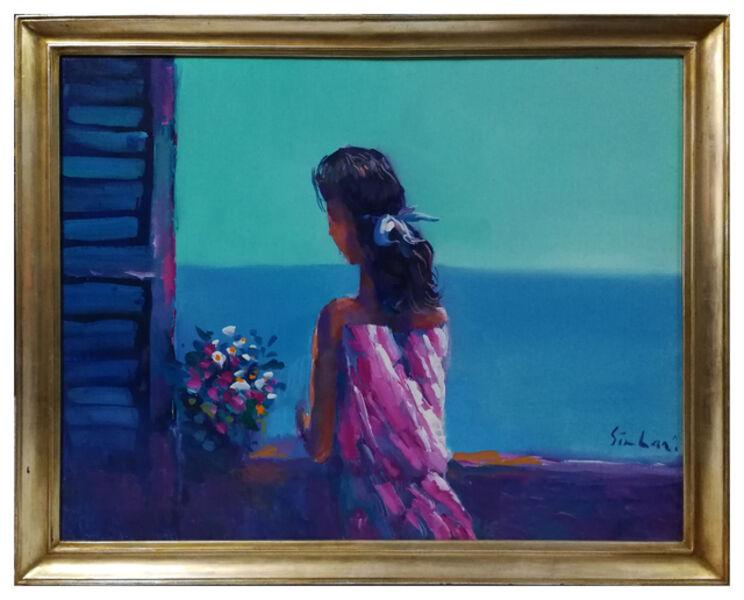 Nicola Simbari, 'Woman at the window', ca. 1960