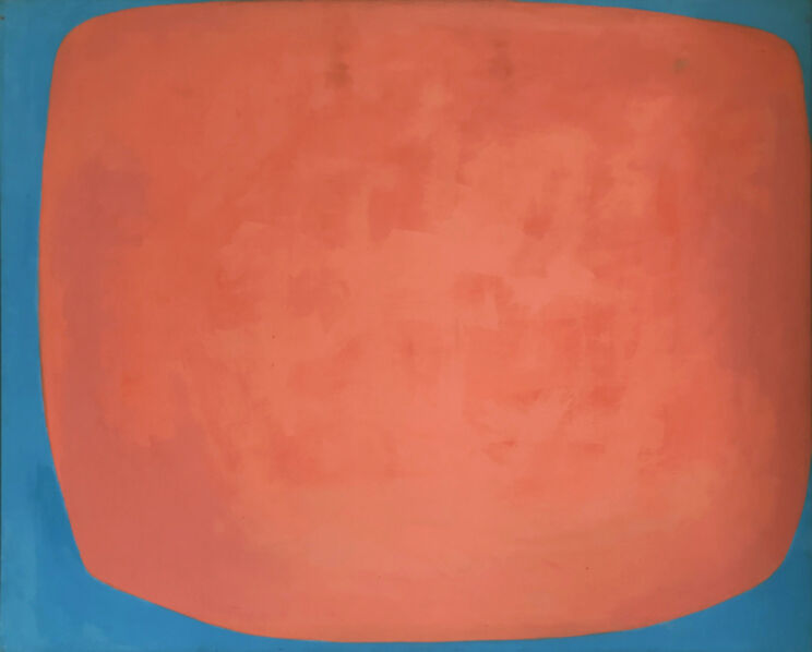 Louis Ribak, 'Red and Blue Abstract', ca. 1960-1970's