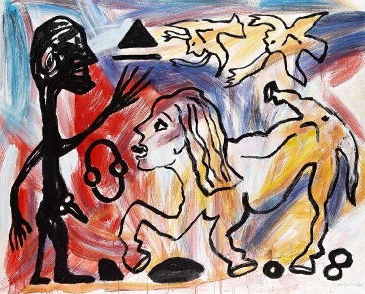 A.R. Penck, 'Willst du oder willst du nicht', 1989