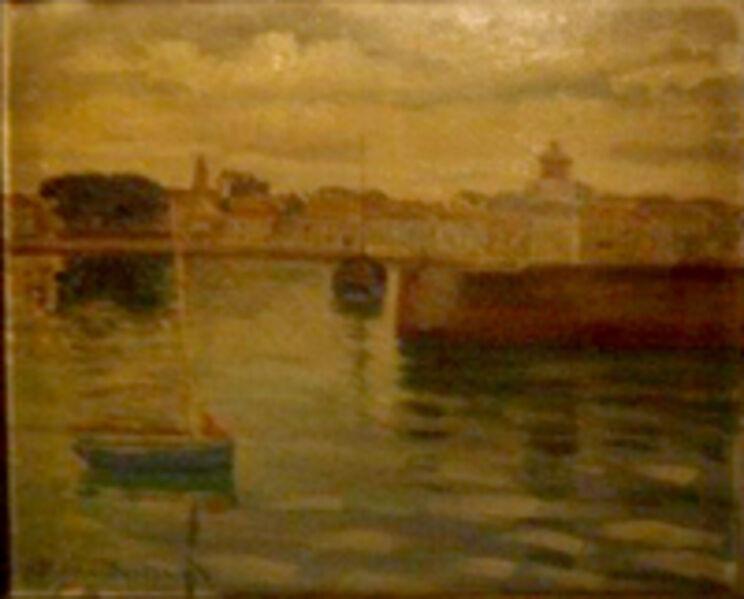 Jean-Pierre Bertrand, 'Vue d'un port'