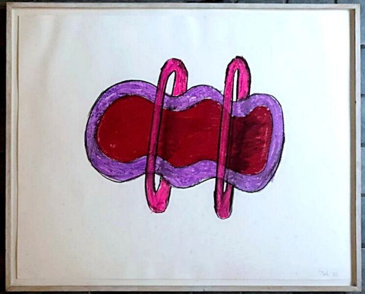 Jene Highstein, 'Untitled pastel and chalk painting ', 1982