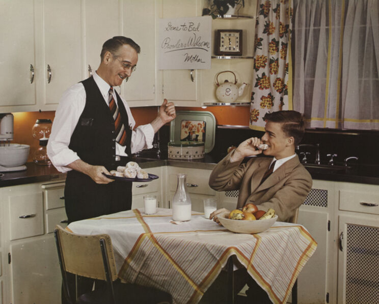 Paul Outerbridge, 'Father and Son in Kitchen', 1941