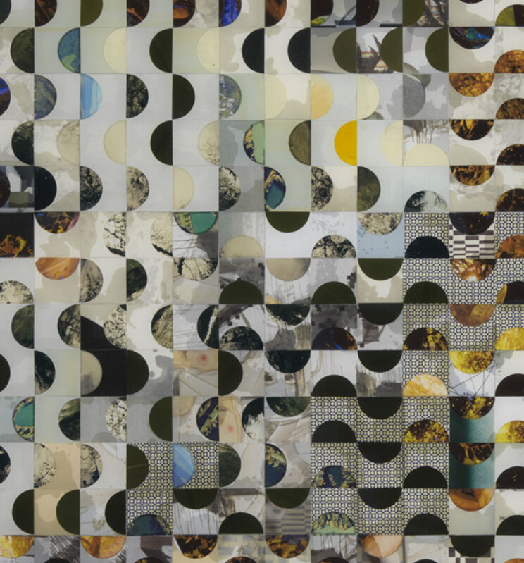 Matthias Bitzer, 'The enveloped landscape', 2016, Drawing, Collage or other Work on Paper, Paper and epoxy on board, Francesca Minini