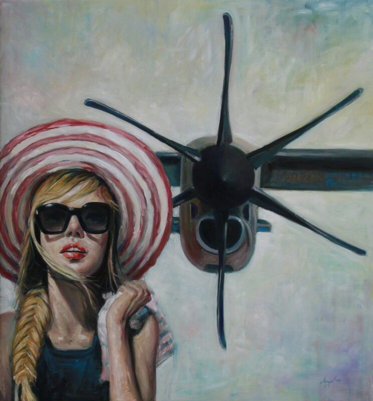 Angel Peychinov, 'Danger Propeller X', 2019, Painting, Oil on canvas, Galerie Barbara von Stechow