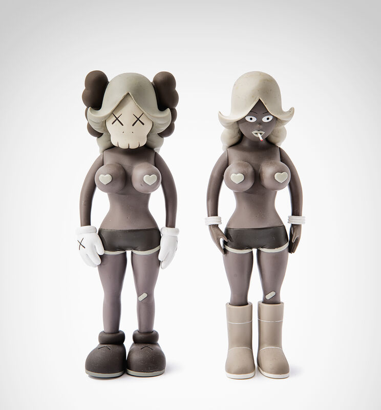 KAWS, 'The Twins (Grey)', 2006, Sculpture, A pair of painted cast vinyl sculptures, Tate Ward Auctions