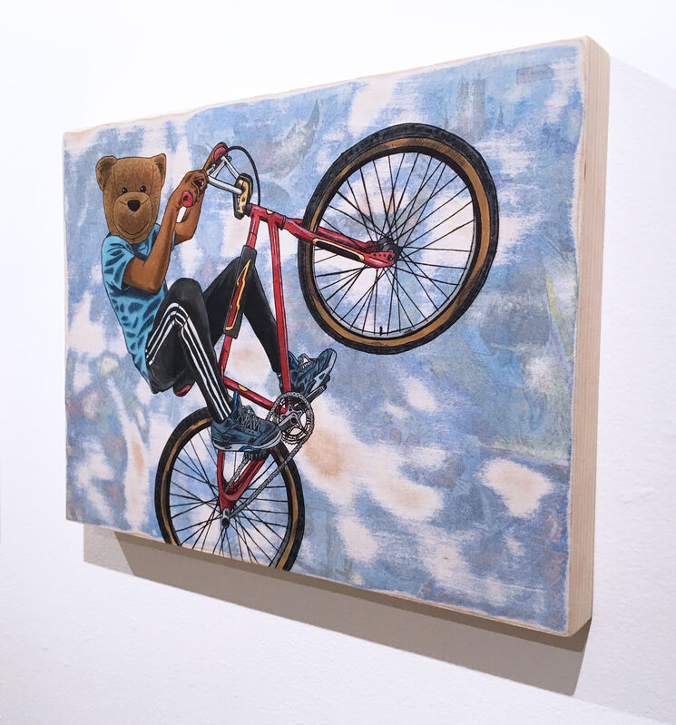 Sean 9 Lugo, 'Riding Dirty', 2019, Painting, Watercolor, ink, and paper on panel, Deep Space Gallery