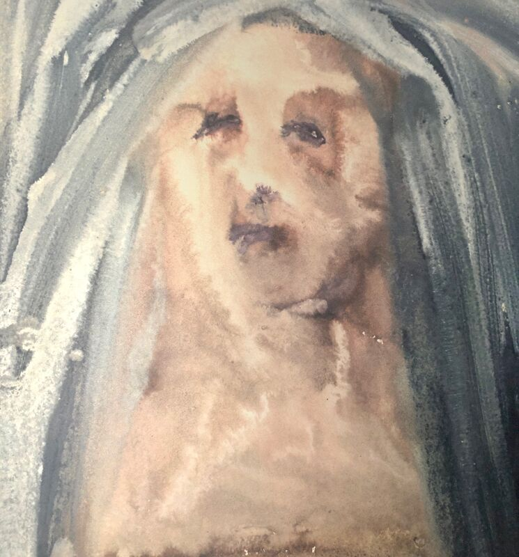 Salvador Dalí, 'Lament, Virgin, Girded with Sackcloth, 'Plange, Virgo, Accincta Sacco', Biblia Sacra', 1967, Print, Original Lithograph, Inviere Gallery