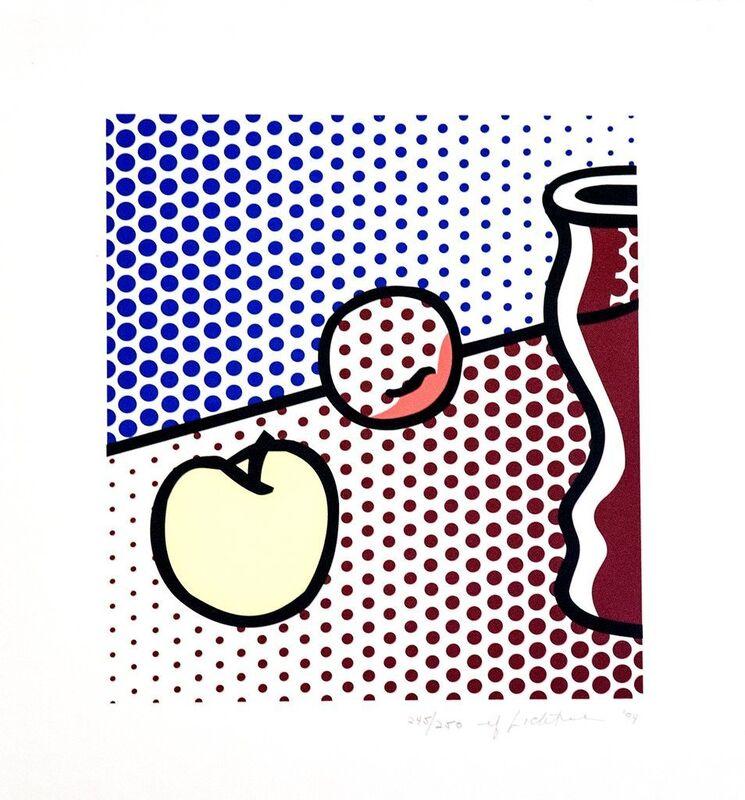 Roy Lichtenstein, 'Still Life with Red Jar', 1994, Print, Screenprint on Lanaquarelle watercolor paper, Gerald Hartinger Fine Arts