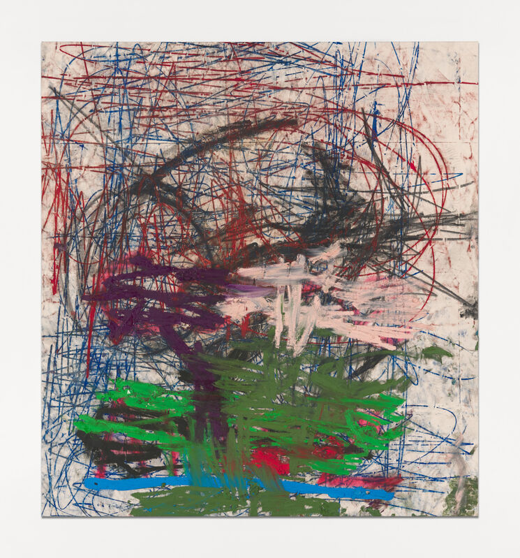 Oscar Murillo (b. 1986), '(untitled) ethics & aesthetics', 2020-2021, Painting, Oil, oil stick, graphite and spray paint on canvas, David Zwirner