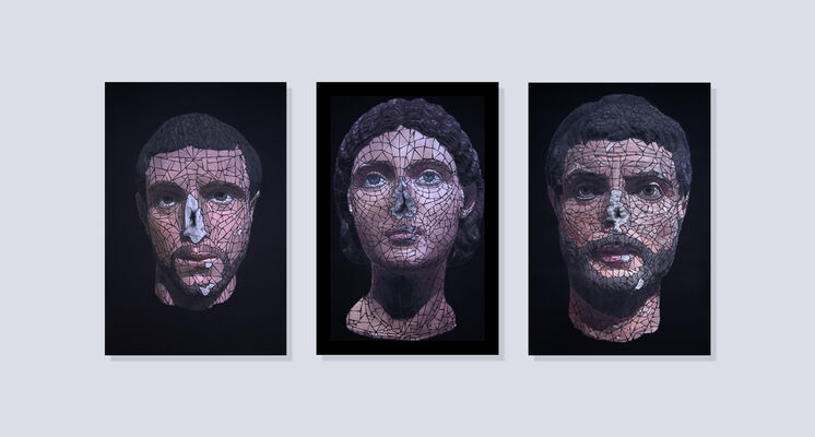 ''Past Noses'' solo show by Ukrainian artist Anatoly Gankevich, installation view