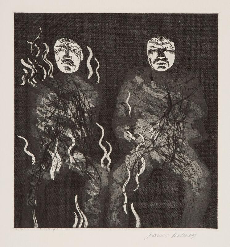 David Hockney, 'Corpses on Fire', 1969, Print, Etching, Aquatint and Drypoint, Gerrish Fine Art