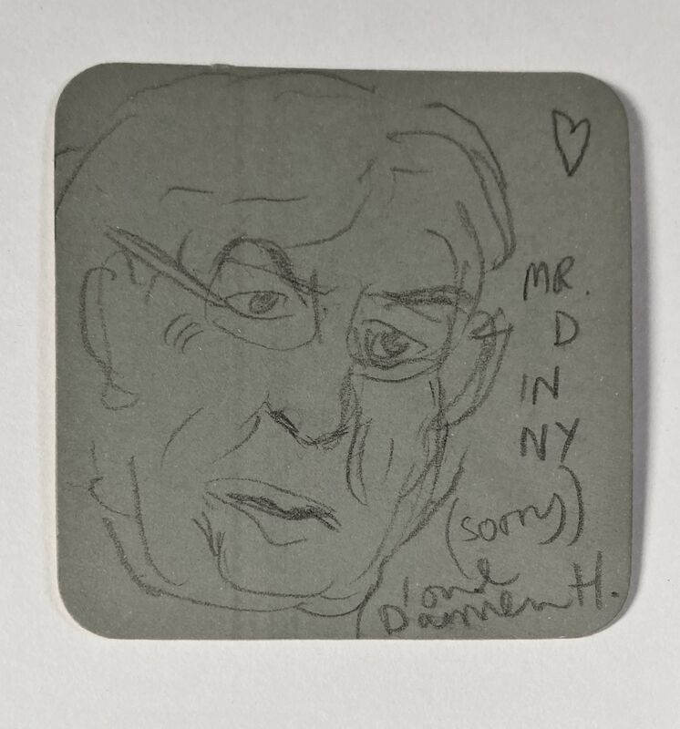 Damien Hirst, 'Mr. D in NY', ca. 2004, Drawing, Collage or other Work on Paper, Pencil on cardboard, OBA/ART