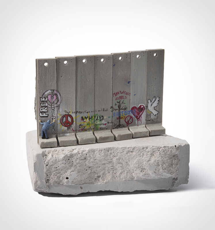 Banksy, 'Walled Off Hotel - Seven Part Souvenir Wall Section', Sculpture, Hand painted resin sculpture with West Bank Separation Wall base, Tate Ward Auctions
