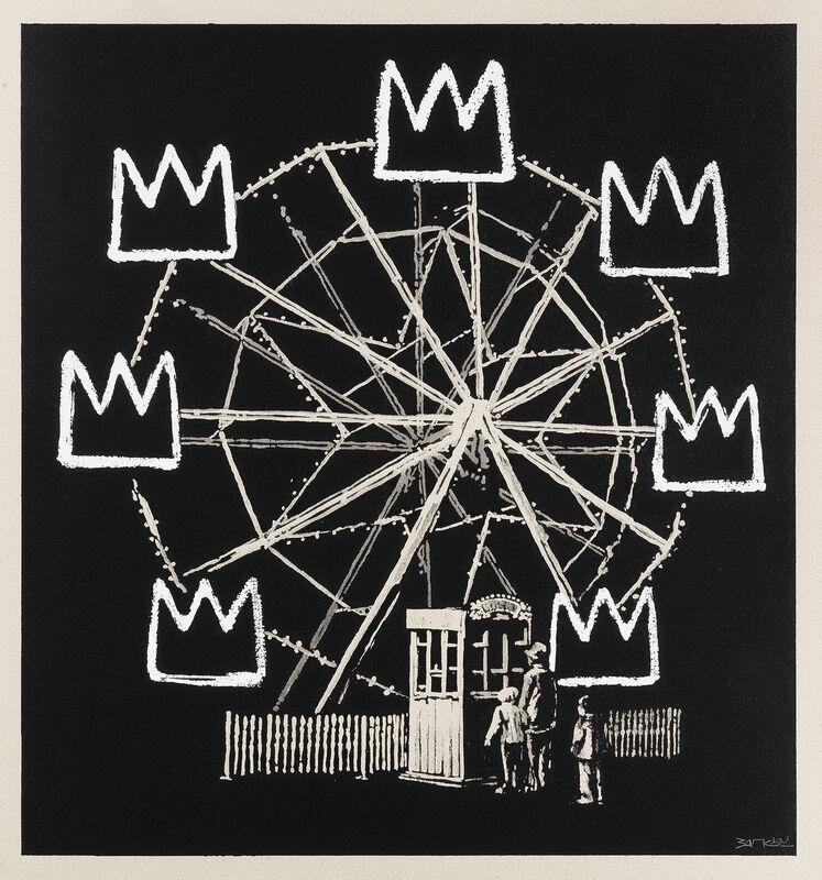 Banksy, 'Banksquiat (Grey)', 2019, Print, Screenprint on grey board, Tate Ward Auctions