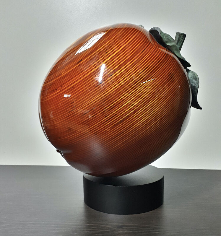 Serhiy Chepel, 'Persimmon Sharon ', 2021, Sculpture, Hand-carved birch wood and cast-brass, Off The Wall Gallery