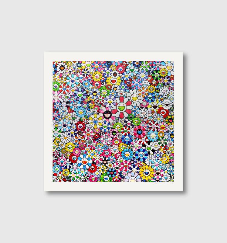Takashi Murakami, 'Flowers with Smiley Faces', 2020, Print, Archival Pigment Print, Viacanvas