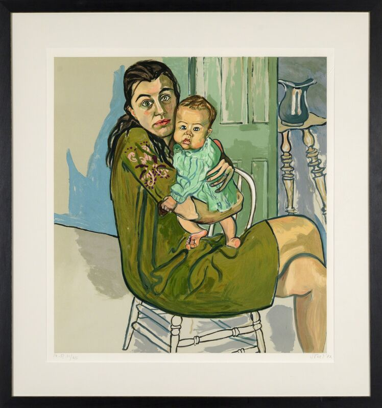 Alice Neel, 'Mother and Child (Nancy and Olivia)', 1982, Print, Lithograph on paper, Heather James Fine Art Gallery Auction