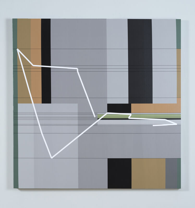 Manfred Mohr, 'P1611_5220', 2012-2013, Painting, Pigment ink on canvas, bitforms gallery