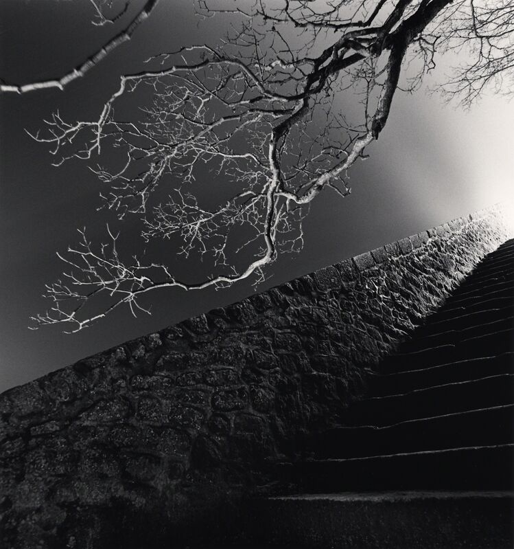 Michael Kenna, 'Night Steps - Mont St. Michel, France. ', 2004, Photography, Sepia toned silver gelatin print, Galeria de Babel