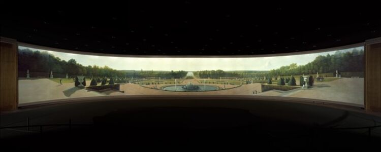 John Vanderlyn, 'Panoramic View of the Palace and Gardens of Versailles', 1818–1819