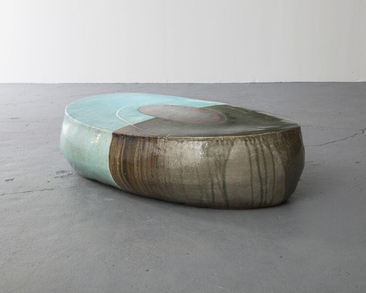 Lee Hun Chung, 'Ceramic Stool in Traditional Grayish-Blue-Powdered Celadon Glaze', 2013