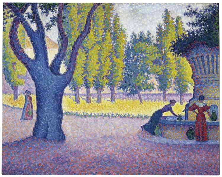 Paul Signac, 'Saint-Tropez, Fontaine des Lices ', 1895