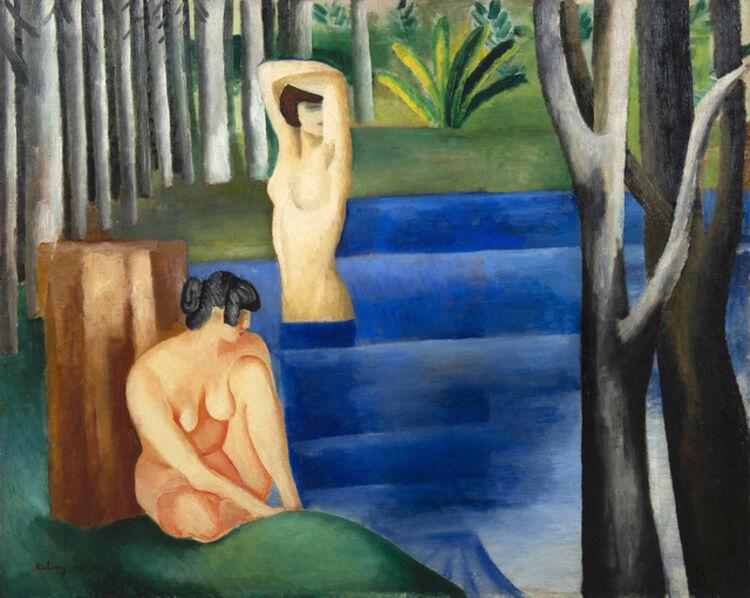 Moise Kisling, 'Les deux baigneuses', 1917