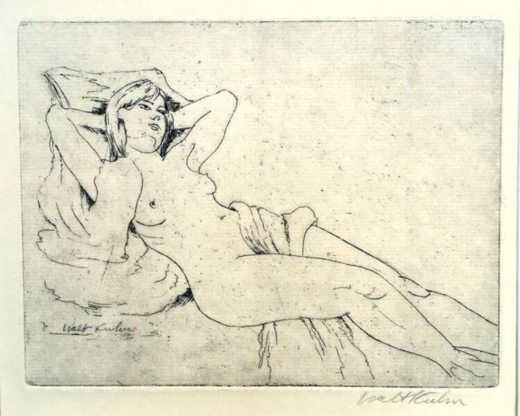Walt Kuhn, 'Reclining Nude', ca. 1920