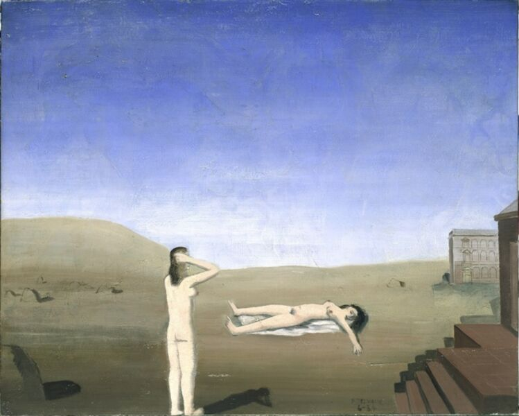 Paul Delvaux, 'Women and Stones', 1934