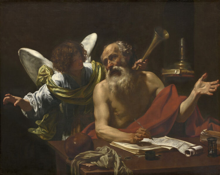 Simon Vouet, 'Saint Jerome and the Angel', ca. 1622/1625