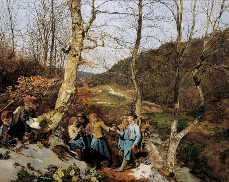 Ferdinand Georg Waldmüller, 'Early Spring in the Vienna Woods', 1861