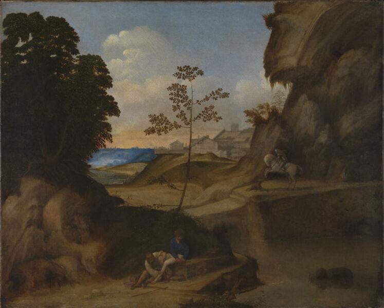 Giorgione, ' Il Tramonto (The Sunset)  ', 1502-1505