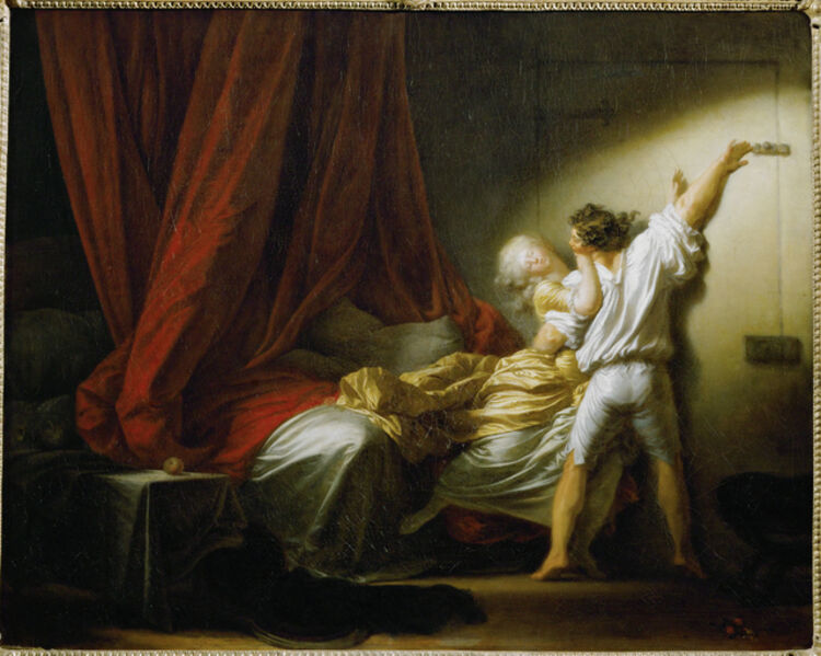 Jean-Honoré Fragonard, 'Le Verrou (The Bolt)', c. 1777