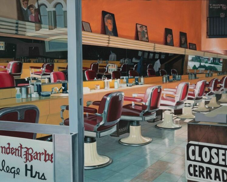 Tad Suzuki, 'Barbershop At Sunset, San Diego', 1998
