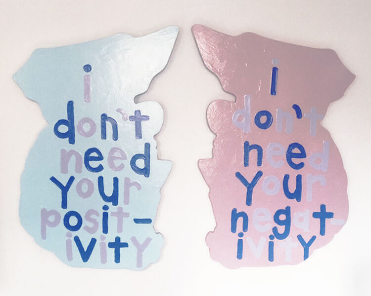 """Cary Leibowitz (""""Candy Ass""""), 'I Don't Need Your Positivity, I Don't Need Your Negativity (Lincoln)', 2019"""