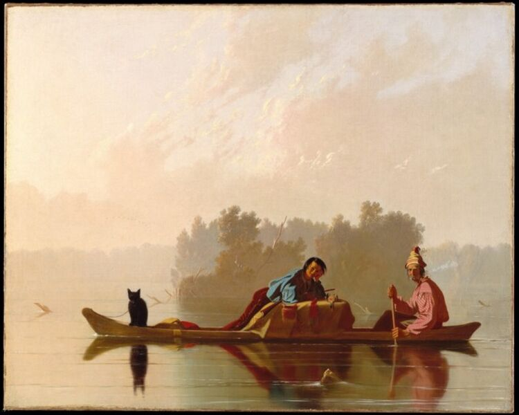 George Caleb Bingham, 'Fur Traders Descending the Missouri', 1845