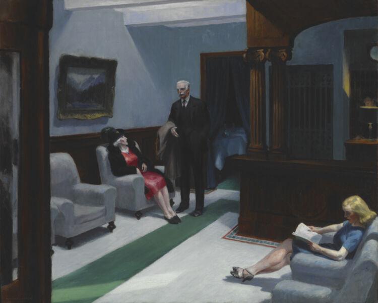 Edward Hopper, 'Hotel Lobby', 1943