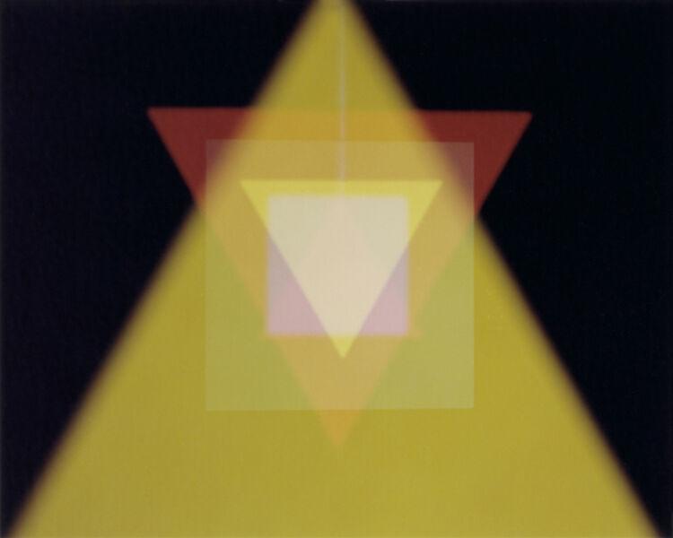 João Maria Gusmão & Pedro Paiva, 'Triangles and Squares 6 (Yellow)', 2013
