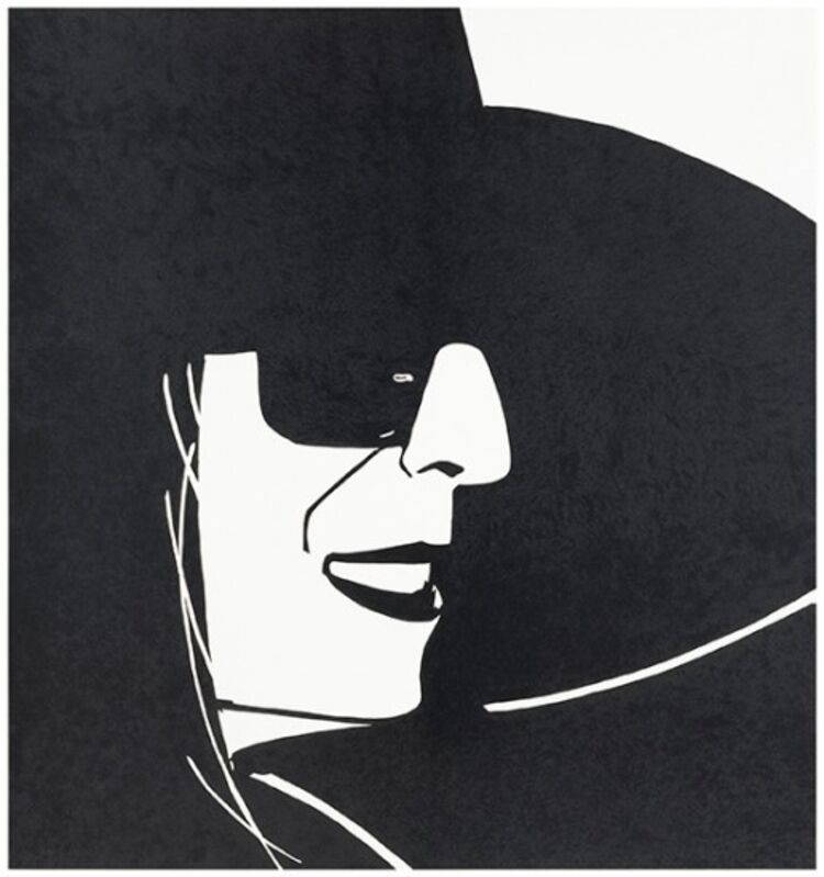 Alex Katz, 'Large Black Hat Ada', 2013, Print, 3-color silkscreen on Saunders Waterford white hot press 410 gsm paper, Haw Contemporary
