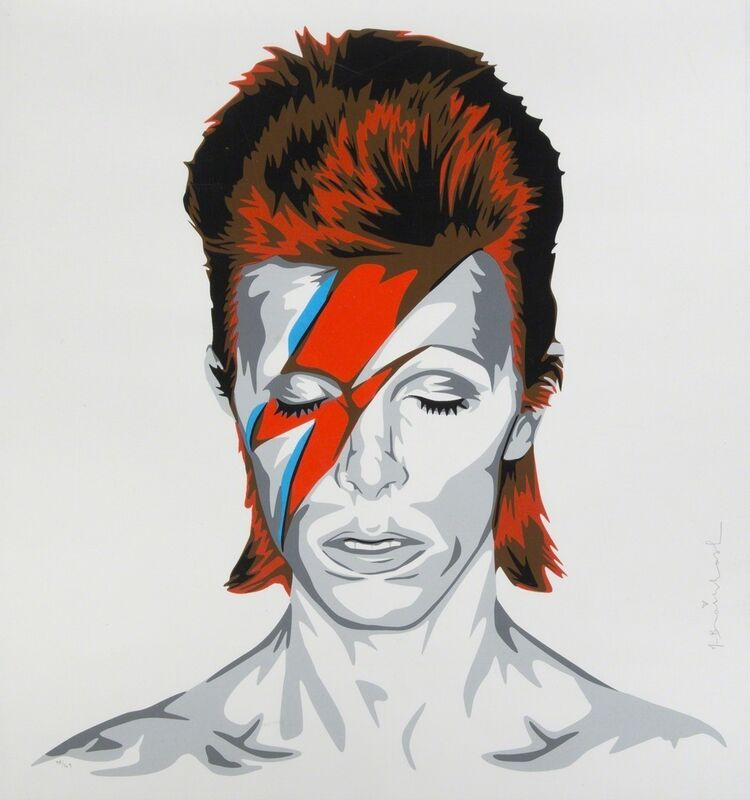 Mr. Brainwash, 'David Bowie (Ziggy)', 2016, Print, Serigraph & Silkscreen, Stowe Gallery