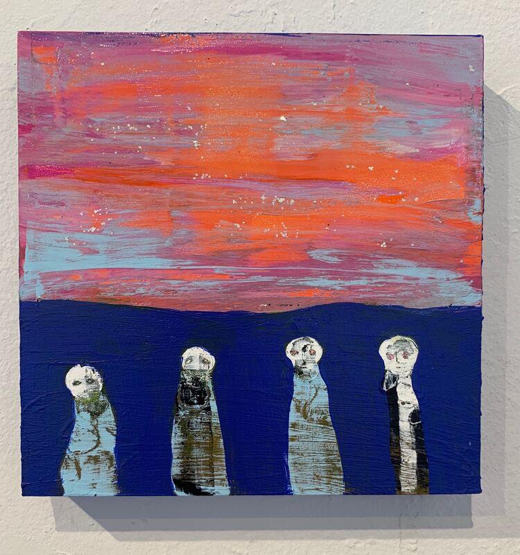 Nancy Larrew, 'Little Ghosts 11', 2021, Painting, Acrylic on wood, bG Gallery